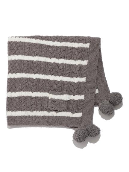 條紋編織kids小毯