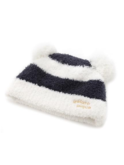 ' babymoco ' 2條紋LOGO kids帽子