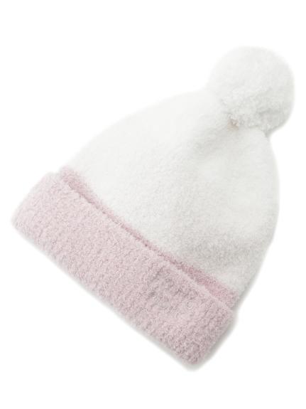' baby moco ' 撞色條紋kids毛球帽