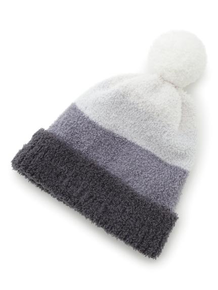 【KIDS】'baby moco'條紋撞色毛帽