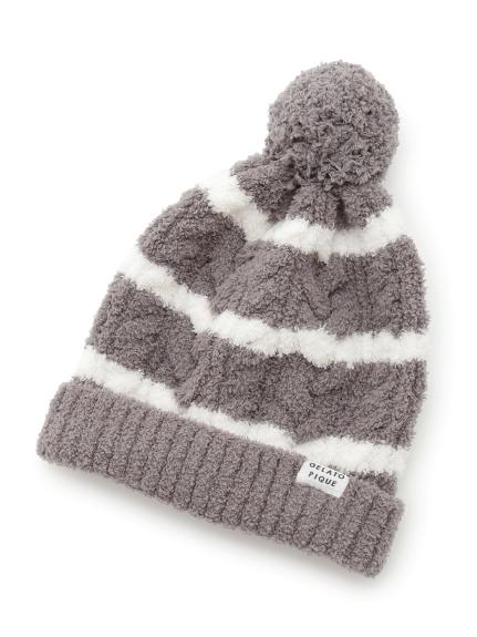 Kids 橫條紋編織毛帽