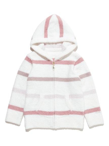 【KIDS】' babymoco '色塊條紋連帽外套