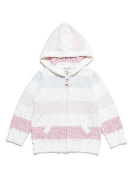 【KIDS】smoothie 4色條紋連帽外套