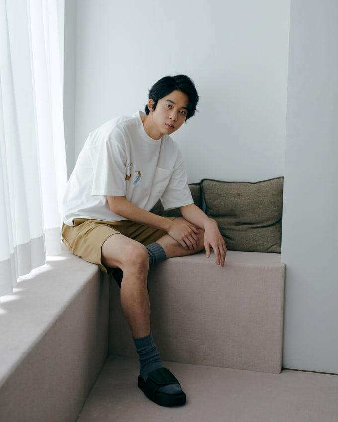 【HOMME】彩繪圖案短褲