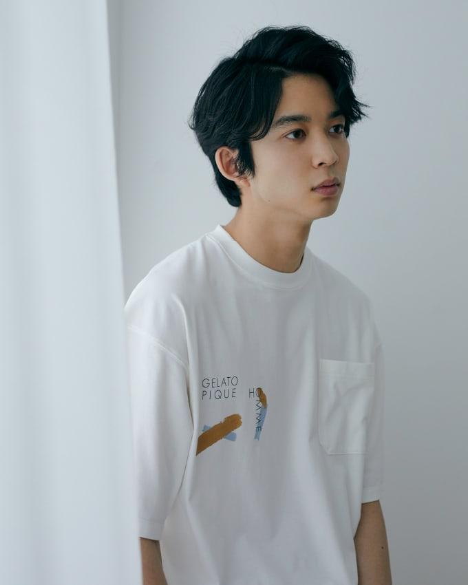 【HOMME】彩繪圖案T-Shirt