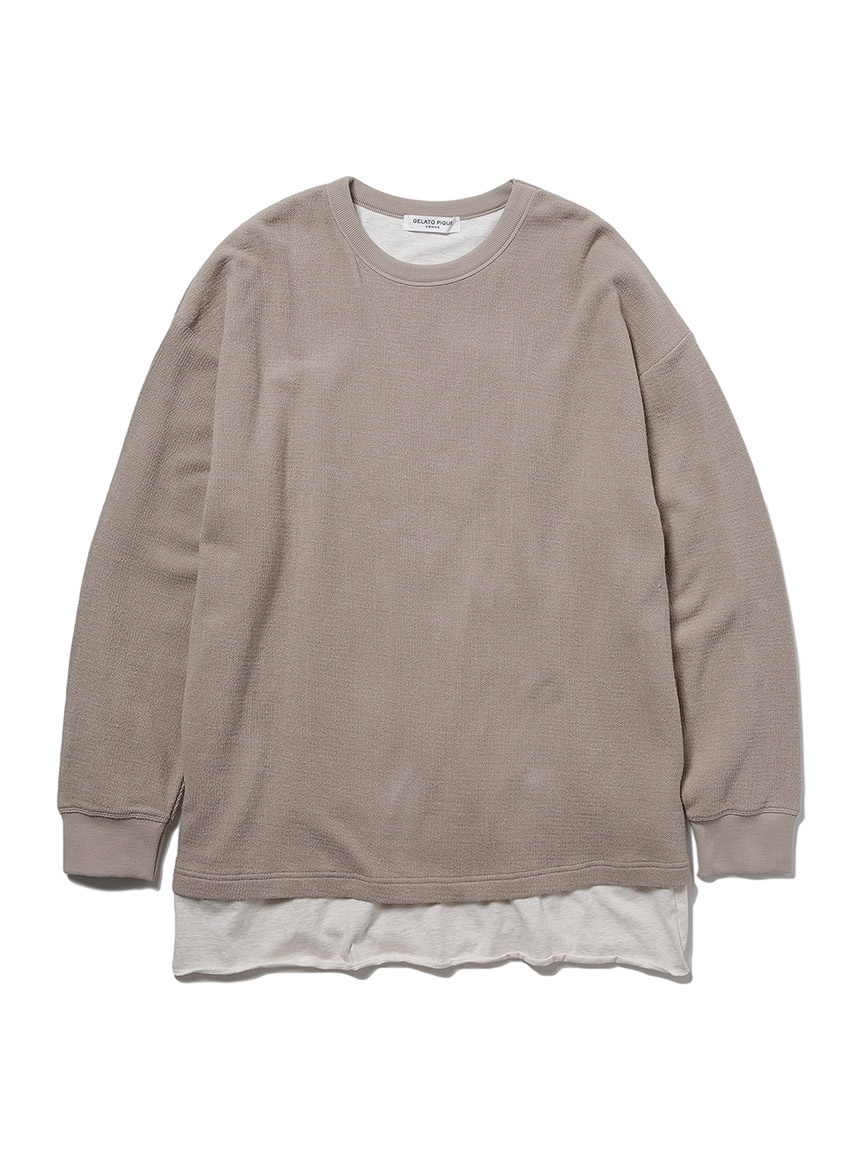 【HOMME】接結拼接純棉上衣