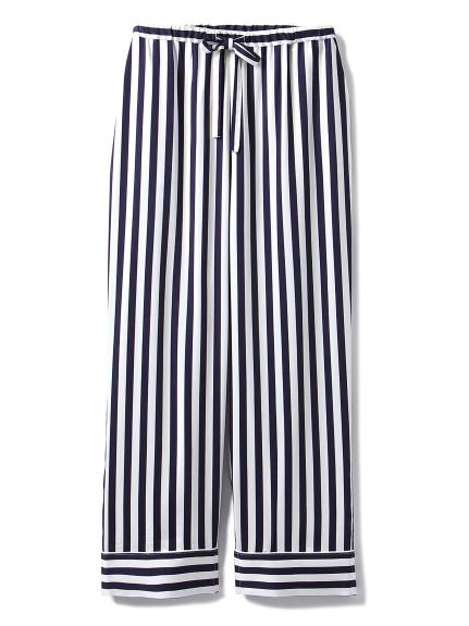 【GELATO PIQUE HOMME】週年紀念條紋緞面長褲
