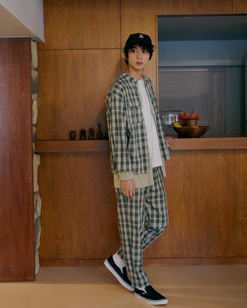 【HOMME】格紋長褲