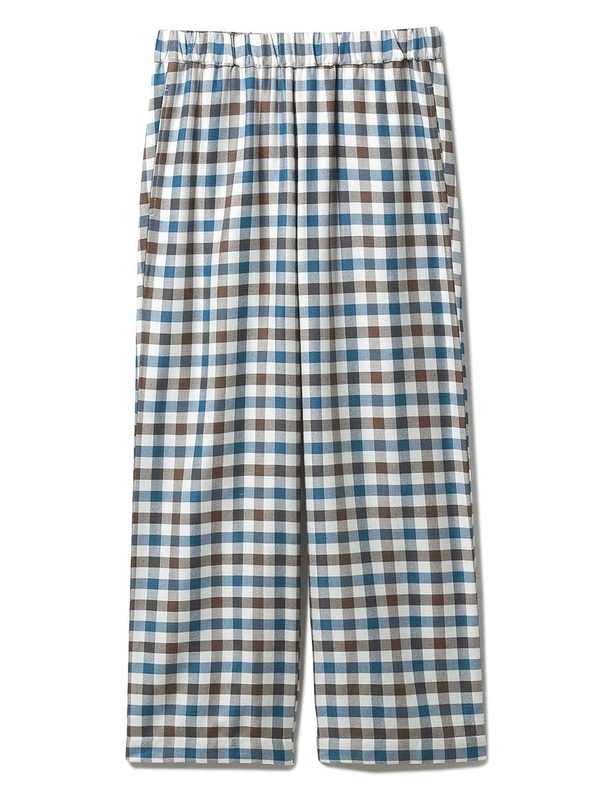 【HOMME】嫘縈法蘭絨格紋長褲