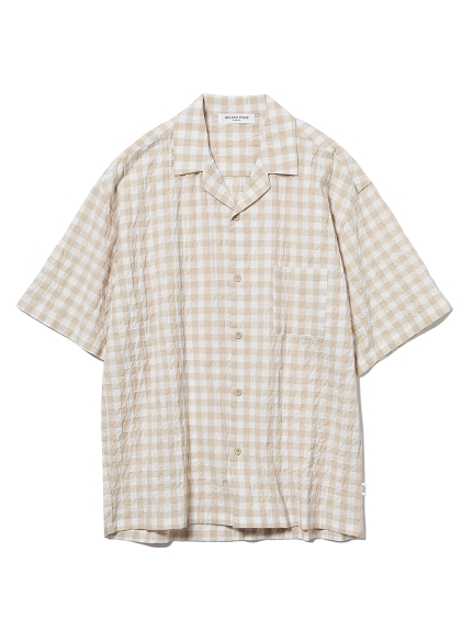 【HOMME】有機棉小方格襯衫