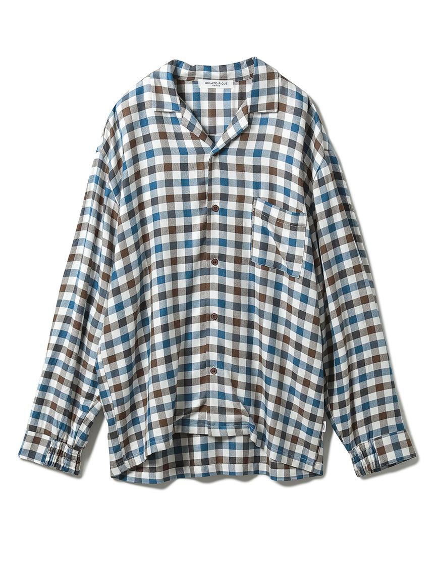 【HOMME】嫘縈法蘭絨格紋襯衫