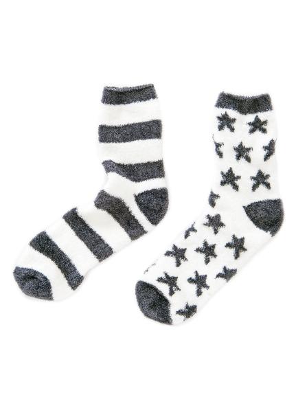 【GELATO PIQUE HOMME】 ' smoothie ' 星星條紋襪子