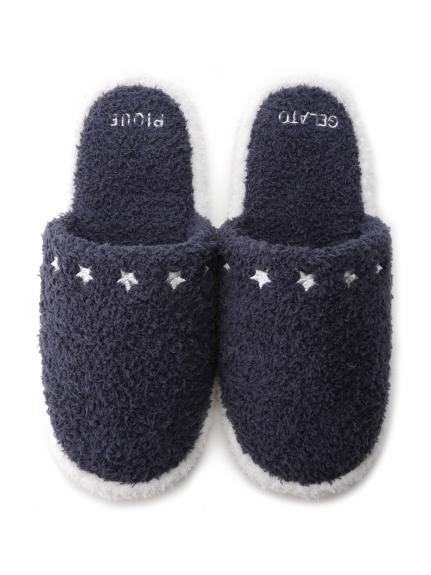 【GELATO PIQUE HOMME】 ' baby moco ' 刺繡造型室內拖