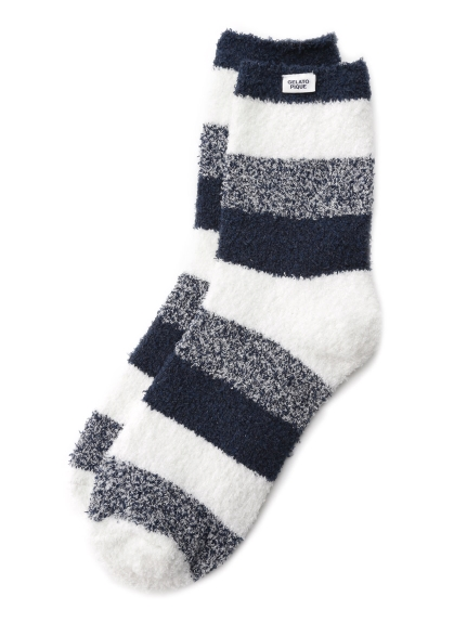 【GELATO PIQUE HOMME】'bamboo'條紋襪子