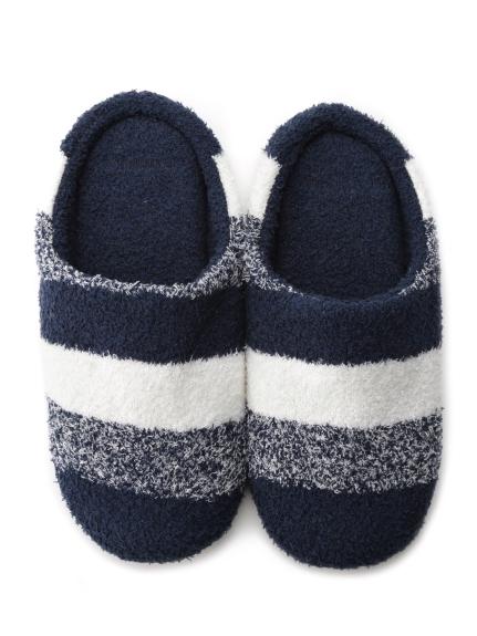 【GELATO PIQUE HOMME】'bamboo'條紋室內拖鞋
