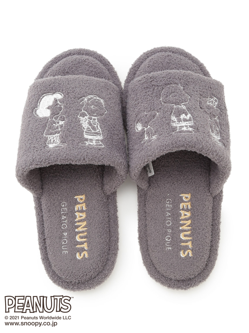 【PEANUTS】插畫室內拖鞋(男)