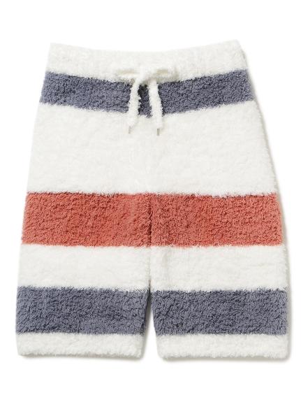【GELATO PIQUE HOMME】' gelato ' 刺繡條紋短褲