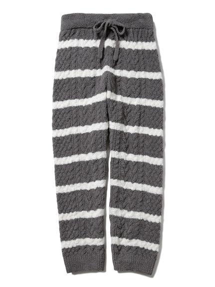 【HOMME】條紋編織長褲