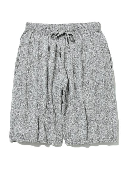 【HOMME】羅紋編織五分褲