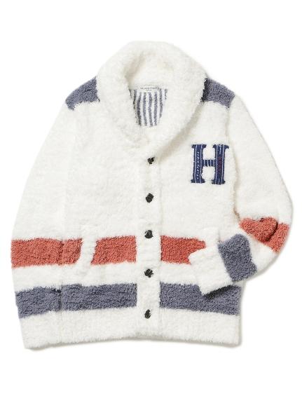 【GELATO PIQUE HOMME】' gelato ' 刺繡條紋開襟外套