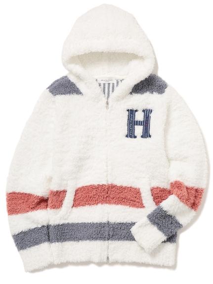【GELATO PIQUE HOMME】' gelato ' 刺繡條紋連帽外套