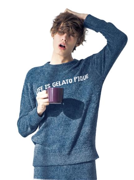 【GELATO PIQUE HOMME】 ' smoothie x aqua dry ' LOGO刺繡上衣