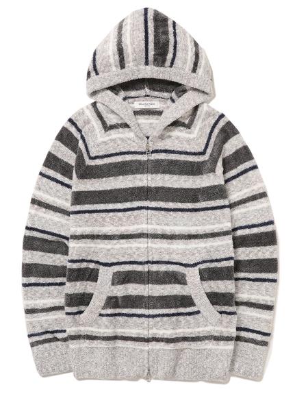 【GELATO PIQUE HOMME】 ' smoothie ' 條紋連帽外套