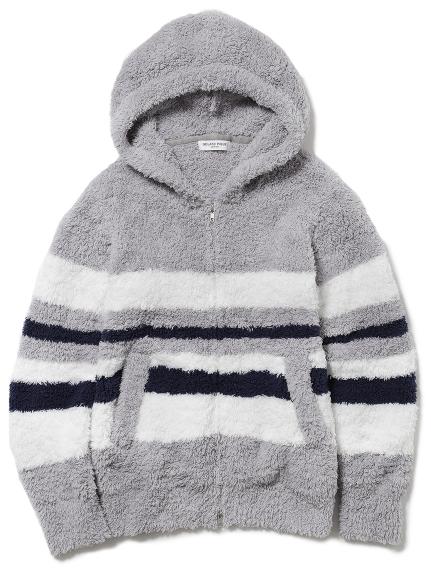 【GELATO PIQUE HOMME】 ' gelato ' 配色條紋連帽外套