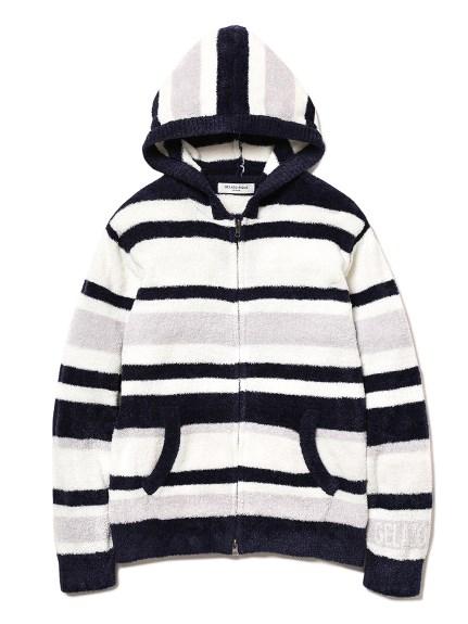 【GELATO PIQUE HOMME】'smoothie'條紋連帽外套