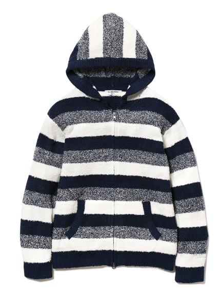 【GELATO PIQUE HOMME】'bamboo'條紋連帽外套
