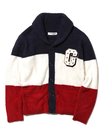 【GELATO PIQUE HOMME】 ' baby moco ' 3條紋刺繡開襟衫