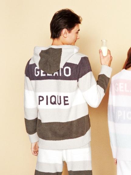 【GELATO PIQUE HOMME】 ' smoothie ' 4色條紋連帽外套
