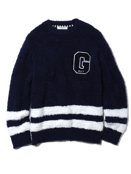 【GELATO PIQUE HOMME】'gelato'條紋字母上衣
