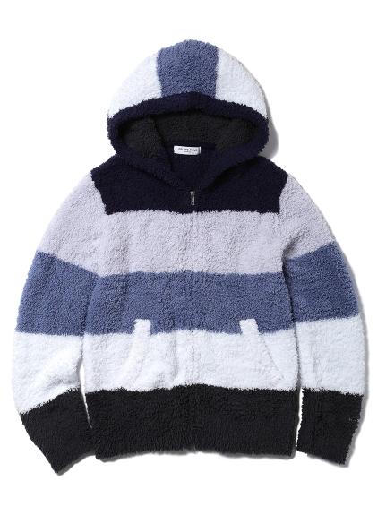 【GELATO PIQUE HOMME】 ' gelato ' 撞色條紋連帽上衣