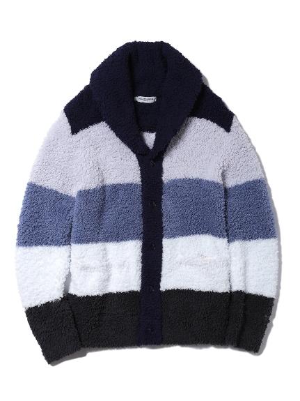【GELATO PIQUE HOMME】 ' gelato ' 撞色條紋翻領開襟外套