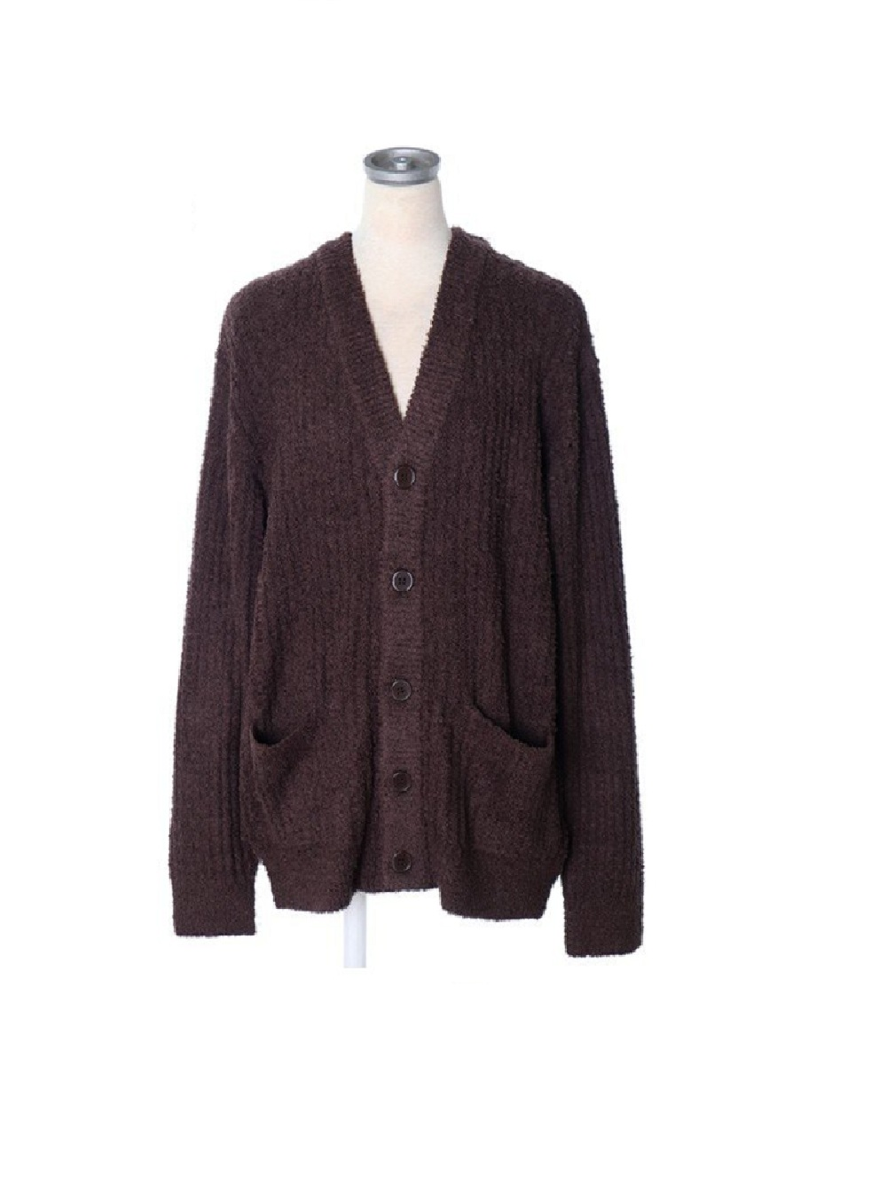 【HOMME】粗織條紋外套
