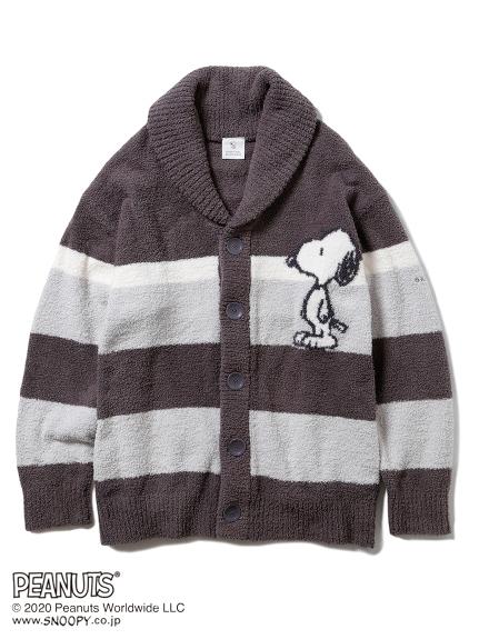 【PEANUTS】SNOOPY條紋針織外套 (HOMME)