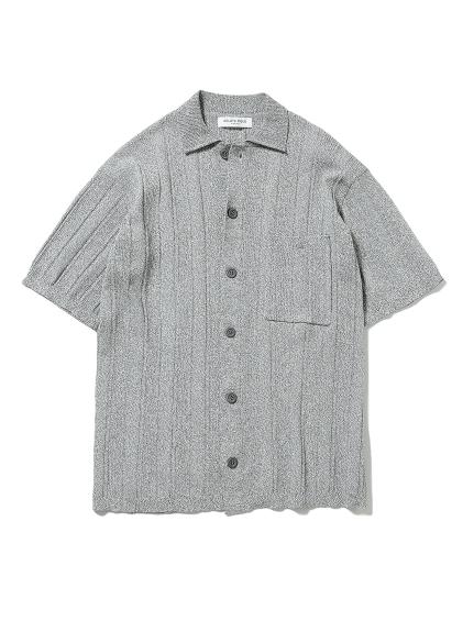 【HOMME】羅紋編織襯衫