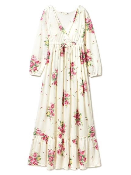 春季花卉長版連身裙
