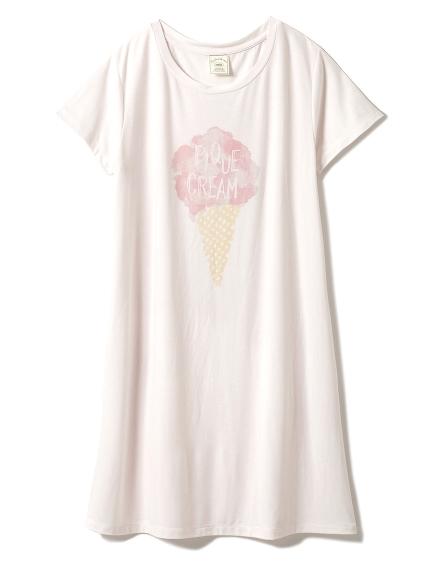 淡雅冰淇淋印花連身裙