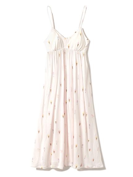 冰淇淋印花附胸墊連身裙