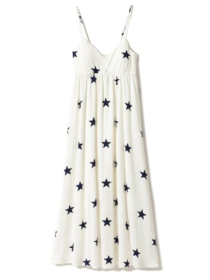 星星印花罩杯連身裙