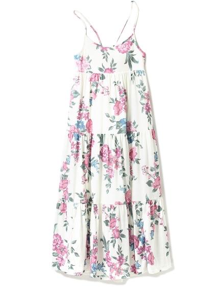 花朵印花細肩連身裙