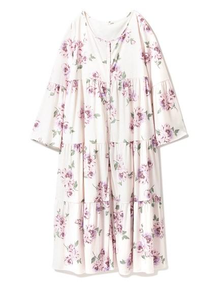 印花長袖連身裙