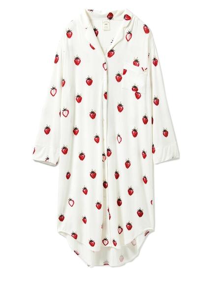 草莓主題連身襯衫
