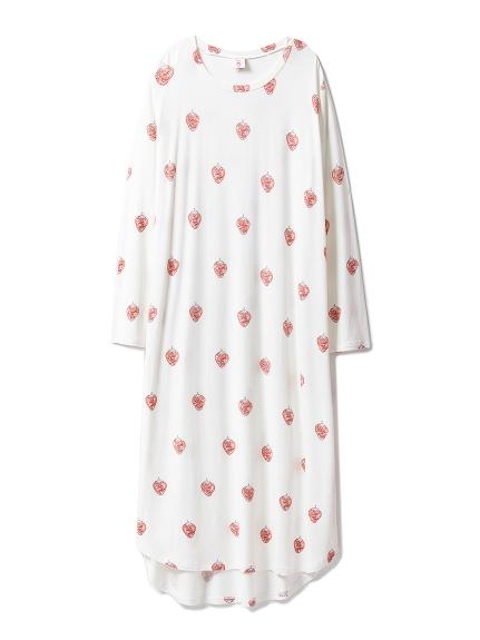 草莓主題印花連身裙
