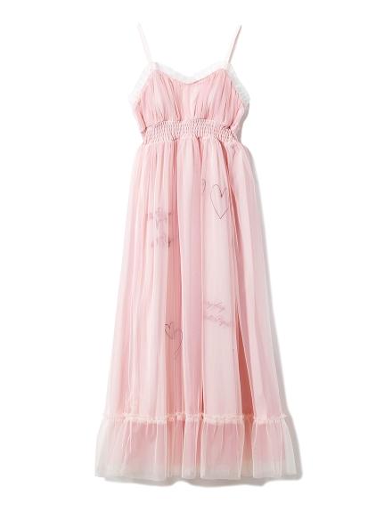 刺繡薄紗連身裙