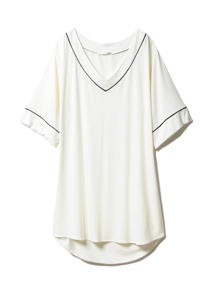 涼感絲質混紡連身裙