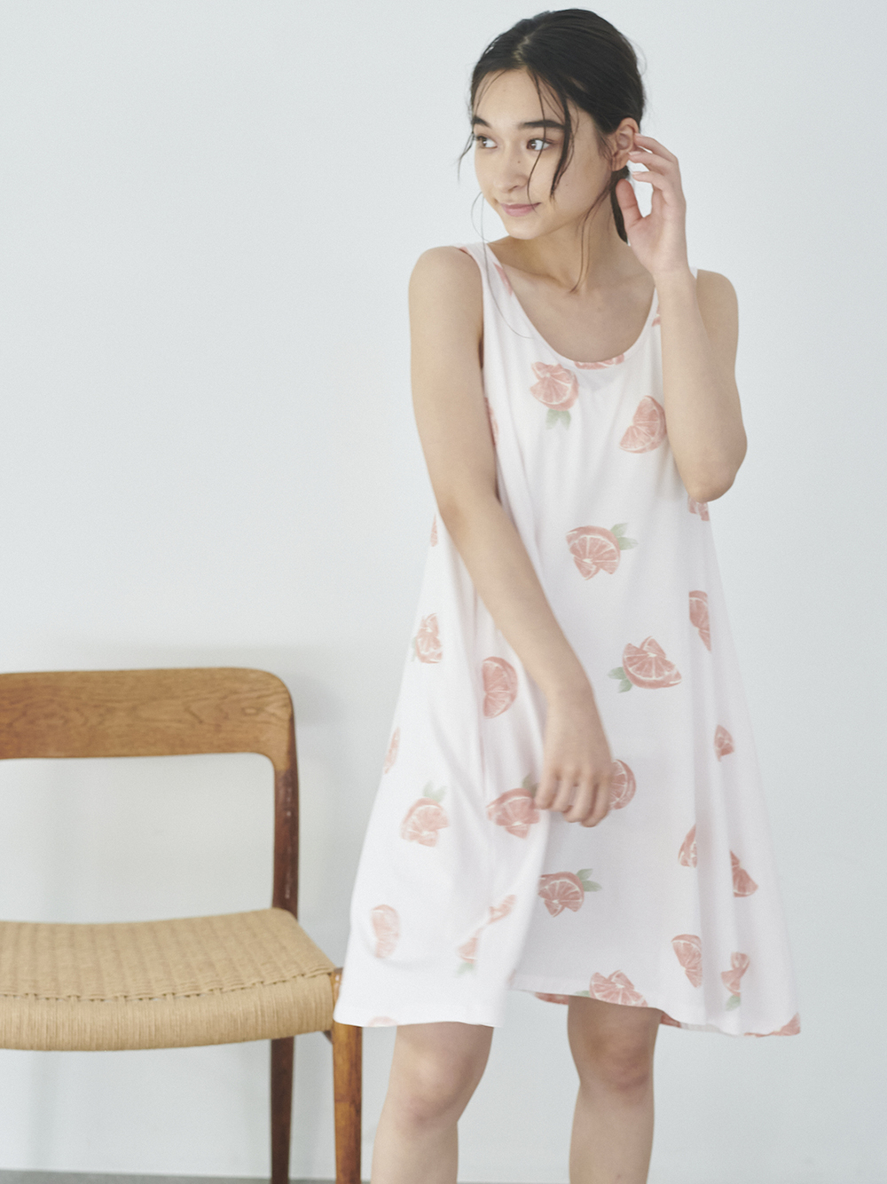 水果彩繪連身裙