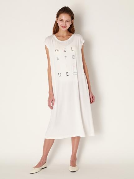抗臭Logo法式袖連身裙